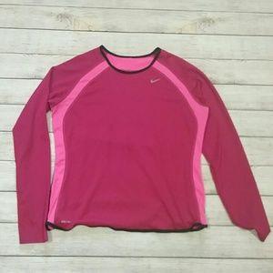 Nike Dri-Fit Hot Pink Longsleeve